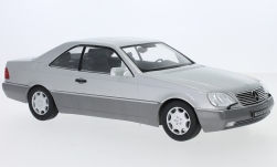 Modellauto - <strong>Mercedes</strong> 600 SEC (C140), silber, 1992<br /><br />KK Scale, 1:18<br />Nr. 233469