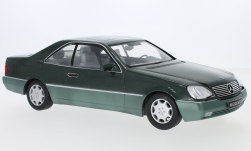 Modelcar - <strong>Mercedes</strong> 600 SEC (C140), metallic-dark green, 1992<br /><br />KK Scale, 1:18<br />No. 233470