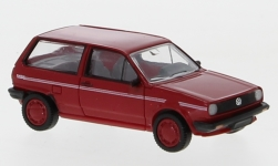 Modelcar - <strong>VW</strong> Polo II Fox, red/Decorated, 1985<br /><br />PCX87, 1:87<br />No. 233665