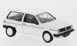 Modelcar - <strong>VW</strong> Polo II Fox, white/Decorated, 1985<br /><br />PCX87, 1:87<br />No. 233666