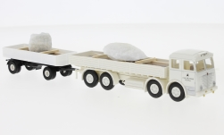 Modelcar - <strong>Büssing</strong> 16000, Steine and Erden, truck with trailer with material loaded Marmorstücke<br /><br />Brekina, 1:87<br />No. 234032