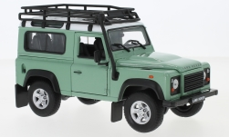 Modelcar - <strong>Land Rover</strong> Defender, light green/white, with roof rack<br /><br />Welly, 1:24<br />No. 234107