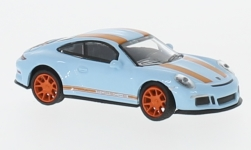 Modelcar - <strong>Porsche</strong> 911 R, light blue/orange<br /><br />Schuco, 1:87<br />No. 234381