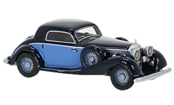 Modelcar - <strong>Mercedes</strong> 540 K Sportcoupé, dark blue/light blue, 1936<br /><br />BoS-Models, 1:87<br />No. 234579