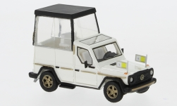 ModelCar - <strong>Mercedes</strong> 230 G Papamobil, metallic-weiss, 1980<br /><br />BoS-Models, 1:87<br />No. 234594