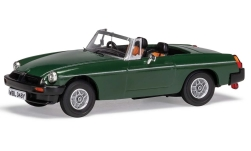 Modelcar - <strong>MG</strong> B Roadster V8, dark green, RHD, Don Hayters car<br /><br />Vanguards, 1:43<br />No. 234605