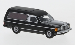 Modelcar - <strong>Mercedes</strong> W123 hearse, black, 1977<br /><br />BoS-Models, 1:87<br />No. 234610
