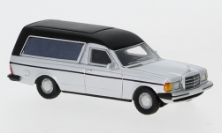 Modellauto - <strong>Mercedes</strong> W123 Bestattungswagen, silber, 1977<br /><br />BoS-Models, 1:87<br />Nr. 234611