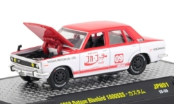 Modellauto - <strong>Datsun</strong> Bluebird 1600 SSS, rot/weiss, Coca Cola, 1969<br /><br />M2 Machines, 1:64<br />Nr. 234671