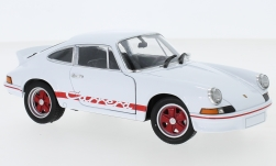 Modelo de coche - <strong>Porsche</strong> 911 Carrera RS 2.7, blanco/rojo, 1973<br /><br />Welly, 1:24<br />Nº 234693