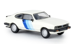 Modelcar - <strong>Ford</strong> Capri MKIII RS, white/Decorated, 1981<br /><br />Brekina, 1:87<br />No. 234733