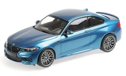 Modelcar - <strong>BMW</strong> M2 Competition, metallic-blue, 2019<br /><br />Minichamps, 1:18<br />No. 234855