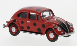 Modelcar - <strong>VW</strong> beetle, red/black, Marienkäfer<br /><br />Schuco, 1:64<br />No. 234904