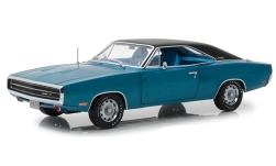 Modellauto - <strong>Dodge</strong> Charger 500, metallic-blau/schwarz, 1970<br /><br />Greenlight, 1:18<br />Nr. 234973