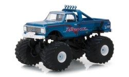 Modellauto - <strong>Chevrolet</strong> K-10 Monster Truck, metallic-blau, Exterminator, 1972<br /><br />Greenlight, 1:64<br />Nr. 235015