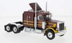 Modelo de coche - <strong>Peterbilt</strong> 359, metallic-marrón/Decorado, 1980<br /><br />IXO, 1:43<br />Nº 235057