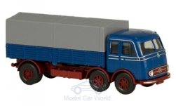 Modellauto - <strong>Mercedes</strong> LP 333 Tausendf��ler, blauw/rood, Serie 800<br /><br />Wiking / PMS, 1:87<br />Nr. 235070