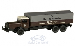 voiture miniature - <strong>Mercedes</strong> L 10000, Exp�dition Hamacher, s�rie 800<br /><br />Wiking / PMS, 1:87<br />N° 235082