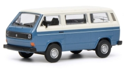 Modellauto - <strong>VW</strong> T3 Bus, blau/weiss<br /><br />Schuco, 1:64<br />Nr. 235274