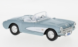 Modelcar - <strong>Chevrolet</strong> Corvette, metallic-light blue/white, 1957<br /><br />Lucky Die Cast, 1:43<br />No. 235811