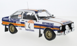 Modelcar - <strong>Ford</strong> Escort MKII RS 1800, No.4, Rothmans, Rallye WM, Rally San Remo, A.Vatanen/D.Richards, 1980<br /><br />IXO, 1:18<br />No. 236186