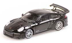 Modelcar - <strong>Porsche</strong> 911 (991) GT2 RS, black, with Carbon-stripes, 2018<br /><br />Minichamps, 1:87<br />No. 236206