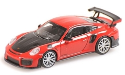 Modelcar - <strong>Porsche</strong> 911 (991) GT2 RS, red, with Carbon-hood, 2018<br /><br />Minichamps, 1:87<br />No. 236258
