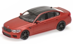 Modelcar - <strong>BMW</strong> M5 (F90), mat red/carbon, 2018<br /><br />Minichamps, 1:87<br />No. 236375