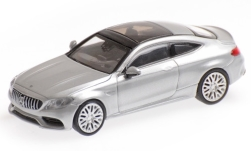 Modellauto - <strong>Mercedes</strong> AMG C63 Coupe (C205), silber, 2015<br /><br />Minichamps, 1:87<br />Nr. 236387