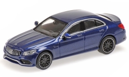 Modellauto - <strong>Mercedes</strong> AMG C63 (W205), metallic-dunkelblau, 2019<br /><br />Minichamps, 1:87<br />Nr. 236389