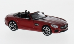 Modellauto - <strong>Mercedes</strong> AMG GTS Roadster, metallic-rot, 2017<br /><br />Minichamps, 1:87<br />Nr. 236394