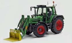 Modelcar - <strong>Fendt</strong> Favorit 510 C, green, with front loader, 1994<br /><br />weise-toys, 1:32<br />No. 236804