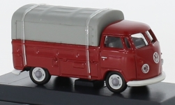 Modellauto - <strong>VW</strong> T1b Pritsche, rot/grau, mit Plane<br /><br />Schuco, 1:87<br />Nr. 236845