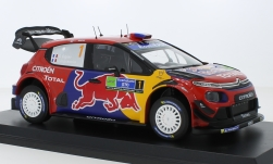 Modellauto - <strong>Citroen</strong> C3 WRC, No.1, Red Bull / Total, WRC, Rally Mexico, S.Ogier/J.Ingrassia, 2019<br /><br />Norev, 1:18<br />Nr. 236927