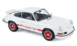 Modellino - <strong>Porsche</strong> 911 RS touring, bianco/rosso, 1973<br /><br />Norev, 1:18<br />n. 236945