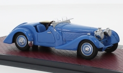 Modelcar - <strong>Bugatti</strong> Type 57S Corsica Roadster, blue, RHD, Malcolm Campbell #57531, 1937<br /><br />Matrix, 1:43<br />No. 237009