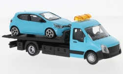 Modelcar - <strong>Iveco</strong> Daily transport, with Renault Clio<br /><br />Bburago, 1:43<br />No. 237018
