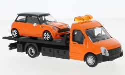 Modelcar - <strong>Iveco</strong> Daily transport, with Mini Cooper S<br /><br />Bburago, 1:43<br />No. 237019
