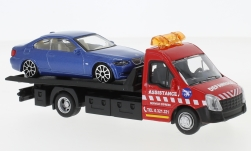 Modelcar - <strong>Iveco</strong> Daily transport, with BMW 6 Series<br /><br />Bburago, 1:43<br />No. 237021