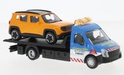 Modelcar - <strong>Iveco</strong> Daily transport, with Jeep Renegade<br /><br />Bburago, 1:43<br />No. 237023