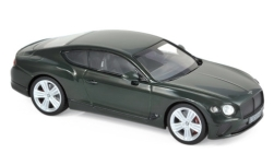 Modelcar - <strong>Bentley</strong> Continental GT, dark green, 2018<br /><br />Norev, 1:43<br />No. 237027