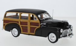 Modelcar - <strong>Chevrolet</strong> Fleetmaster, dunkelbraun/wood optics, 1948<br /><br />Welly, 1:24<br />No. 237200