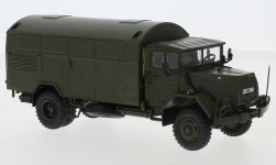 Modelcar - <strong>MAN</strong> 630, olive greeen, German Armed Forces, box-wagon-truck<br /><br />Premium ClassiXXs, 1:43<br />No. 237244