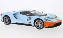 Modelcar - <strong>Ford</strong> GT, light blue/orange, 2017<br /><br />Maisto, 1:18<br />No. 237630