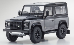Modelcar - <strong>Land Rover</strong> Defender 90 Final Edition, grey<br /><br />Kyosho, 1:18<br />No. 237742