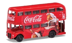 Modellauto - <strong>AEC</strong> Routemaster London Christmas Bus, rot, Coca Cola<br /><br />Corgi, 1:64<br />Nr. 237814