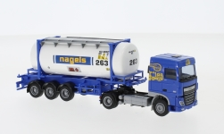 ModelCar - <strong>DAF</strong> XF 106 SC, Nagels, 26'Swapbody-Sattelzug<br /><br />AWM, 1:87<br />No. 238039