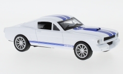 Modellauto - <strong>Shelby</strong> Mustang GT350, weiss/blau, 1965<br /><br />Shelby Collectibles, 1:43<br />Nr. 238477