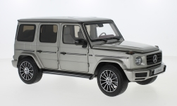 Modelcar - <strong>Mercedes</strong> G-Class (W463), silver, 40 years G-Class, 2019<br /><br />I-Minichamps, 1:18<br />No. 238559