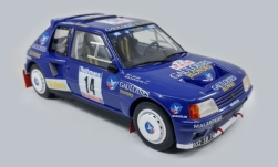 Modellauto - <strong>Peugeot</strong> 205 T16, No.14, Gauloises, Rallye WM, Tour de Corse, B.Darniche/A.Mahe, 1985<br /><br />Triple 9 Collection, 1:18<br />Nr. 238601